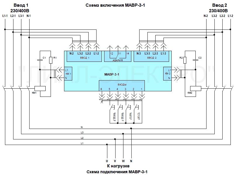 Блок управления АВР МАВР-3-1